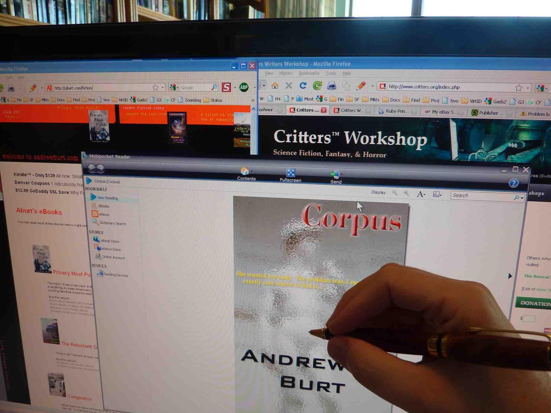 Critters writers workshop screen ebook pen sign fandeluxe Images